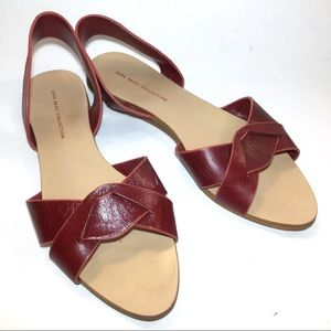 ZARA BASIC COLLECTION Cranberry Red Wine Sandal 36
